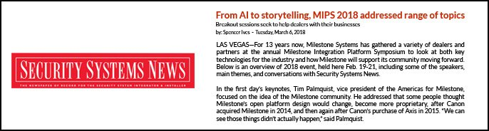 Security Systems News - From AI storytelling, MIPS 2018 addressed range of topics